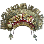 Vintage hair comb tiara Indonesian wedding headdress hair accessory crown head piece (AAA)