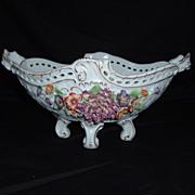 Beautiful Dresden Von Schierholz Porcelain Footed Compote, C. 1907