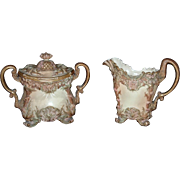 Rare Worcester Royal Porcelain Co. Cream/Sugar, C. 1872
