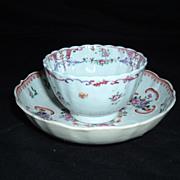 Beautiful Mid 18th Century Tea Bowl And Saucer