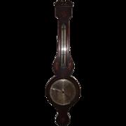 Beautiful George III English Wheel Barometer, A. Torry, C 1835