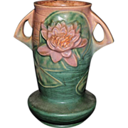 Beautiful Roseville Pottery Water Lily Vase #75-7, C. 1943