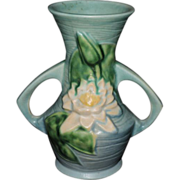 Delicate Roseville Pottery Water Lily Vase #73-6, C. 1943