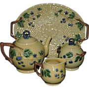 Exquisite Tiffany & Co. Pallisy-Style Blackberry Tea Set and Tray - Retired, 20th Century