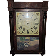 "Beautiful Barns, Bartholomew & Co. Diminutive ""Bronzed Looking Glass"" Clock, C. 1830"