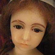 SALE Vintage Gillie Charlson Large Poured Wax Portrait Lady Doll
