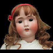 SALE Huge Antique BSW in Heart Bruno Schmidt German Bisque Head Doll