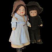 SALE Vintage Composition Marie Pollack Mennonite Dolls