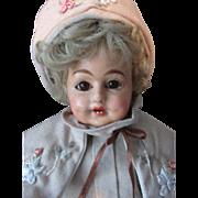 SALE Antique German Papier Mache Schilling Character Doll
