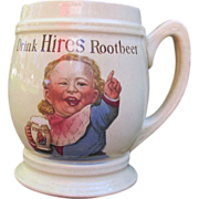 SALE Antique Hires Root Beer Mug Baby Face Villeroy & Boch