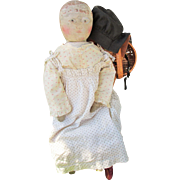 """SALE Wonderful Rare Large 23"""" Early Emma Adams Columbian Doll Much Loved"""