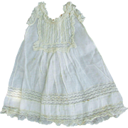 SALE Beautiful Antique Circa 1890 French Bebe Doll Dress