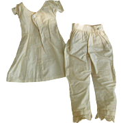 SALE Antique Mid-19th C Set of Cotton Doll Chemise and Pantiloons suitable for Wax ...