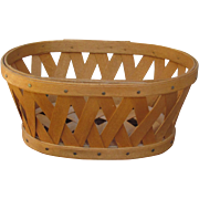 Miniature Signed Splint Maple Wood Longaberger American Folk Art Basket suitable for posing ..
