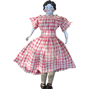 SALE Fabulous Large Antique Dolly Madison China Head Doll with Original Body and Original ...