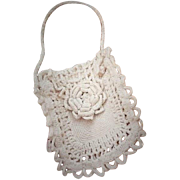 SALE Antique Child or Doll Hand Crochet Purse