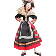 SALE Mid Century Klumpe Spanish Provincial Character Lady Doll with Wonderfully Detailed ...