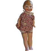 Large German Biscaloid Gladdie Character Doll by Borgfeldt 1929 for Helen Jensen