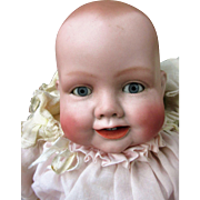 Antique Geman Bisque Head Bonnie Babe Character Doll by Georgine Averill