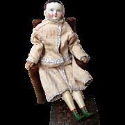 Early Antique Taufling China Head Torso Kinderkopf Boy Doll