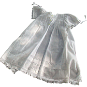 SALE Vintage Beautiful Baby's Cotton Insertion Lace Christening or Wedding Outfit Handmade in