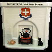 Arcadian England Figural Fireplace * We've Kept the Home FIres Burning *