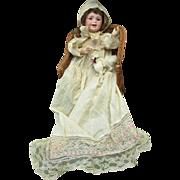 Antique Big Baby Bisque Head Character Doll : Joyous Laughing Jumeau Paris 236 SFBJ