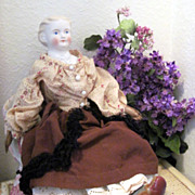 SALE Antique German Kling Parian Bisque Rosa Bonheur Doll