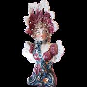 SALE Antique German porcelain china unmarked Teplitz Lovely Lady Bust