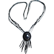 QT Southwest Inlaid Stone Sterling Necklace