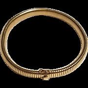 14k Gold Choker Necklace Tubogas Collier de Chien  or Dog Collar