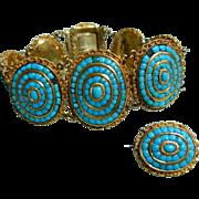 18k Turquoise Bracelet French Victorian Bracelet