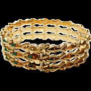 18k 750 Italian Rose Gold Articulated Bracelet Stunning