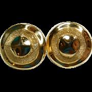 14k Large Round Earrings Unique
