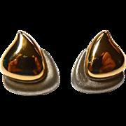 14k Gold Earrings Double Rain Drop