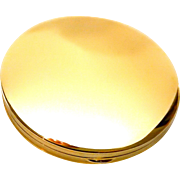 14k Gold Compact Clean Modern Design Loose Powder