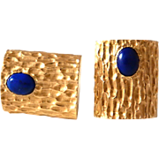 14k Lapis Cufflinks Cuff Links Heavy 21 grams