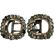 Pair of paste breeches buckles circa 1790    (0483)