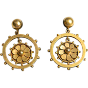 Etruscan Revival Victorian drop Earrings