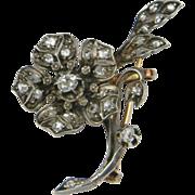 SALE French Diamond Flower Spray Brooch