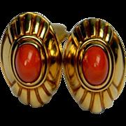 Boucheron Coral Earrings