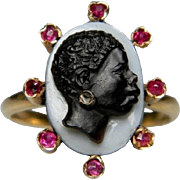 Female Blackamoor Cameo Ring