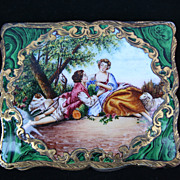 RARE! Exquisite Vintage Italian Compact with Lipstick