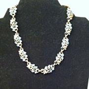 REDUCED Vintage Signed Trifari Rhinestone and Enamel Necklace and Bracelet