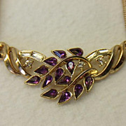 Vtg.  PHILIPPE Crown TRIFARI 1954 Pat. Pend. Pear Baguette Rhinestone Necklace