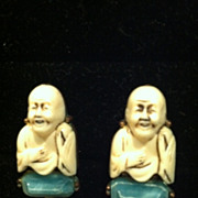 Adorable Happy Buddha Earrings made by Florenza