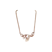 """1951 Crown Trifari Tear Drop Pendant Choker Necklace """"Gems of India"""" Collection"""