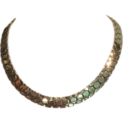 Vintage Trifari Honeycomb Necklace