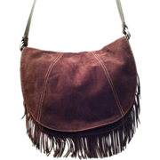 REDUCED Vintage Ralph Lauren Chaps Suede Shoulder Bag with Fringe Never Used Brand New Without