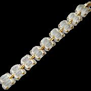 SALE 50% OFF - GIA Appraisal $8700  Stunning Designer Finely Carved Rock Crystal Bracelet with
